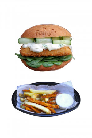 Nofish Burger Menu